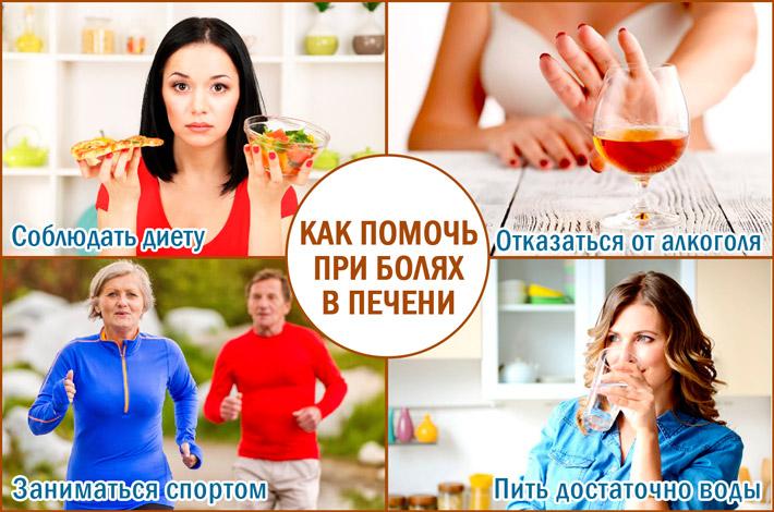Оказание помощи при боли в печени