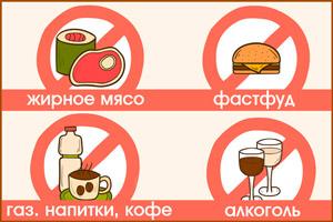 Запрещено употреблять в пищу при больной печени