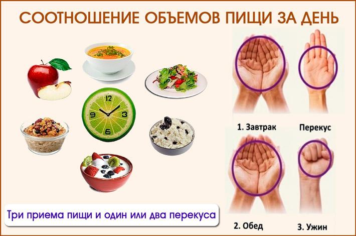 Соотношение еды в день