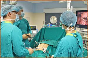 Проведении операции на печени