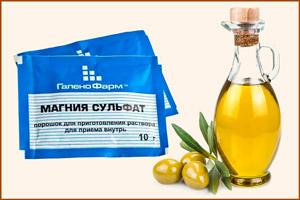 Сульфат магния с оливковым маслом