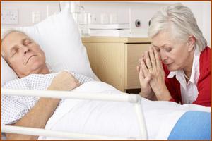 Больной раком перед смертью