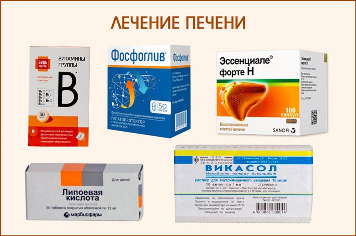 Лекарства для лечения печени