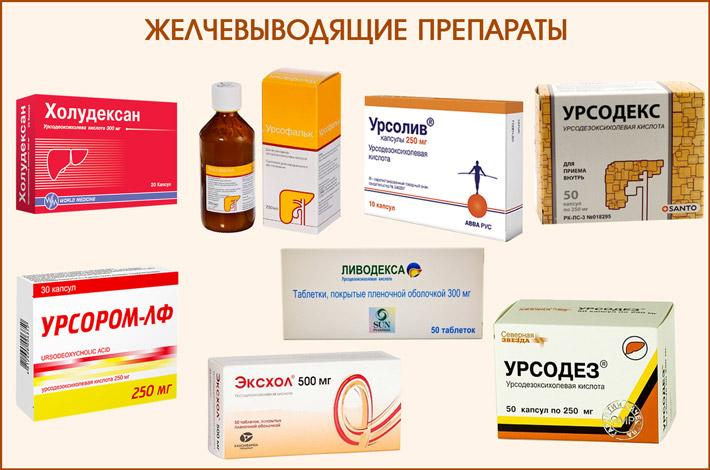 Препараты на основе желчных кислот