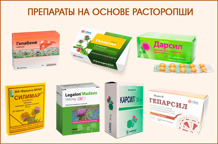 Лекарства с расторопшей