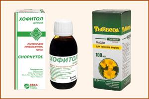 Препараты Тыквеол и Хофитол