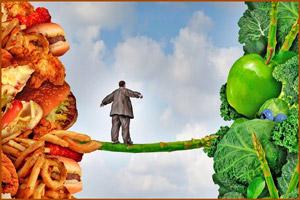 Поменять вредную пищу на здоровую