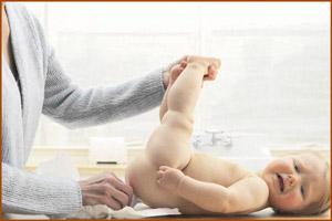 Стул младенца меняет цвет