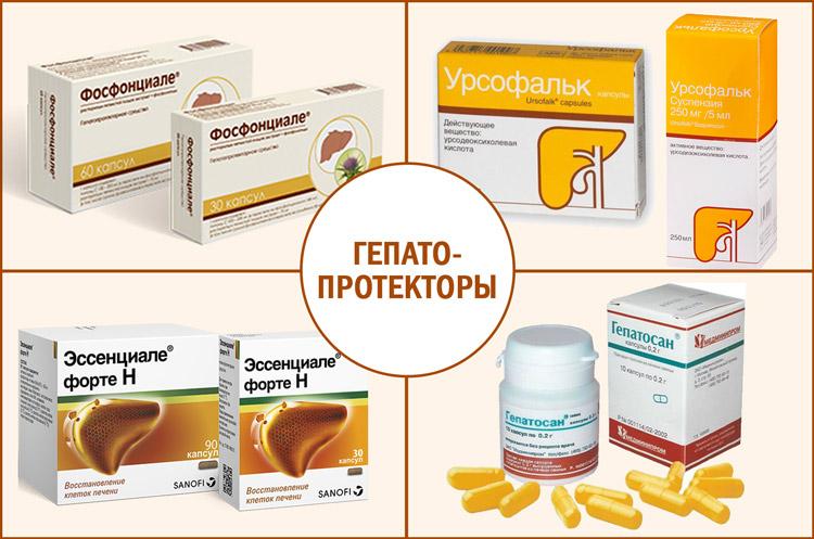 Препараты: гепатопротекторы