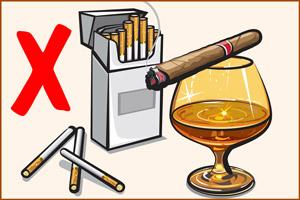 Отказ от спиртного и табака