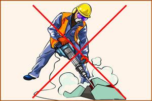 Запрещено работать на тяжелых работах