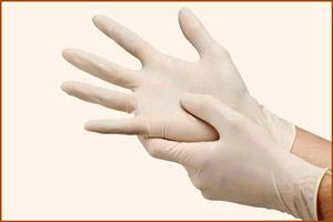 Опасные работы выполнять в медицинских перчатках