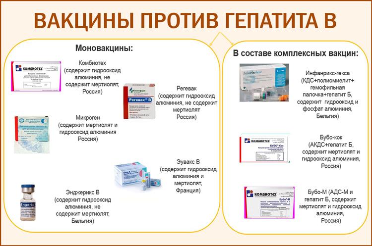 Популярные вакцины против гепатита B